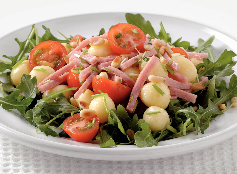Krieltjes-groentesalade met ham