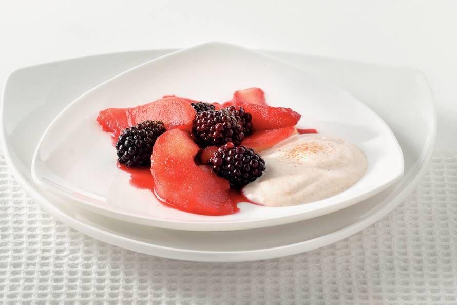 Warme fruitsalade
