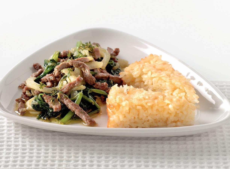 Biefreepjes met risottotaart