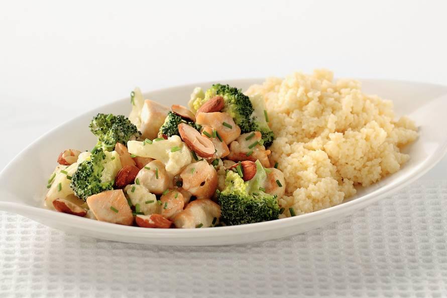 bloemkool-broccolicurry met kip - recept - allerhande - albert heijn