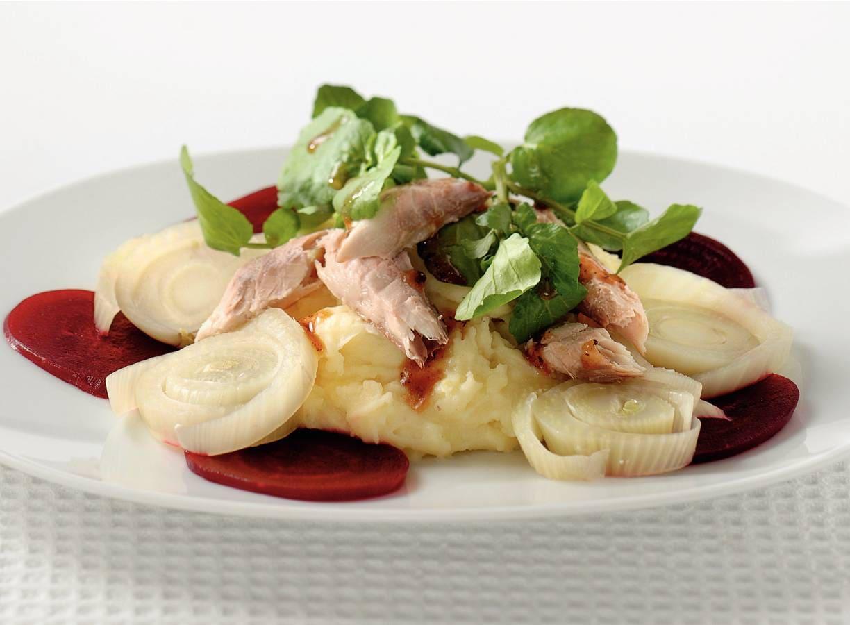 Lauwwarme salade met makreel