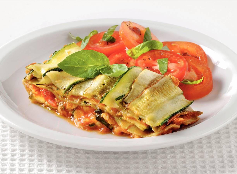 Lasagne met tilapia en courgette