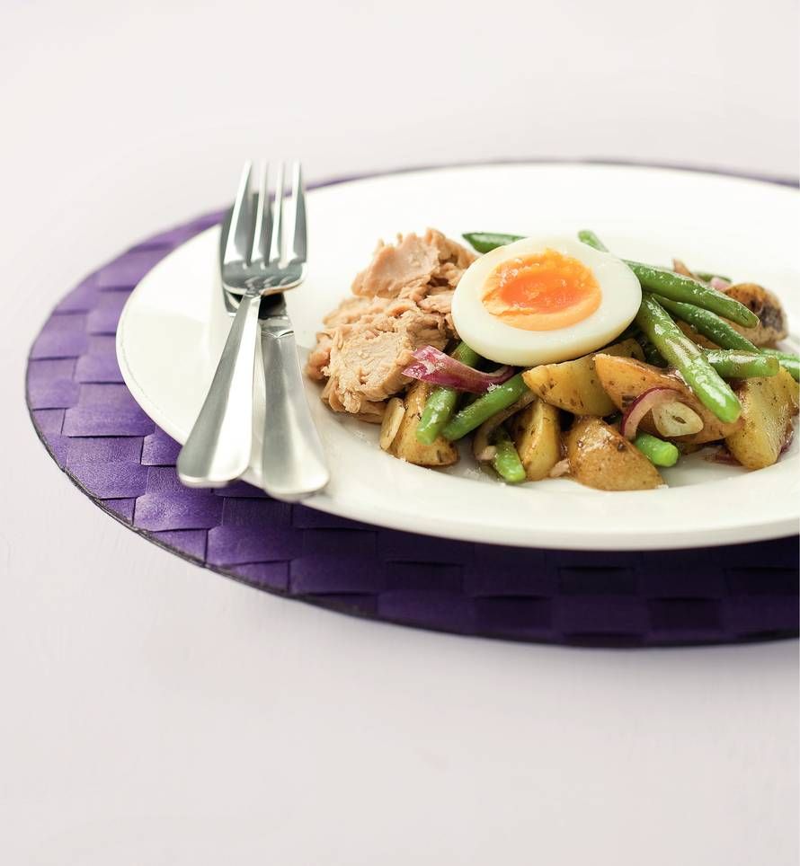 Lauwwarme Franse tonijnsalade