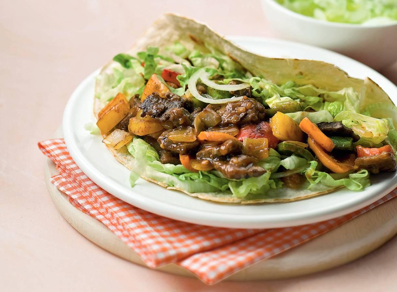 Burrito met rundvlees en paprika