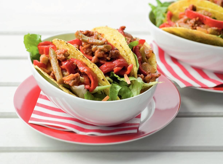 Taco's met bonen gehaktsaus