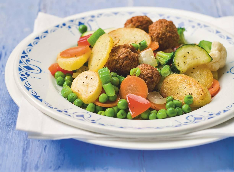 Hollandse roerbak met groenteballetjes