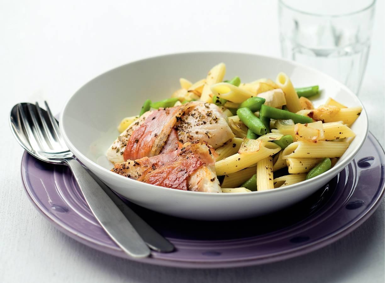 Italiaanse tilapiafilet met pasta