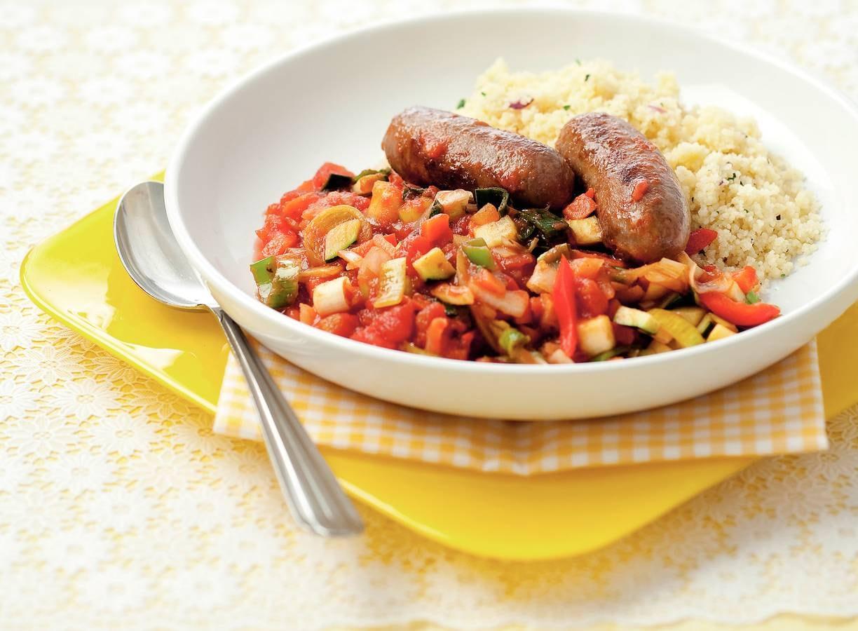 Toscaanse worstjes met couscous