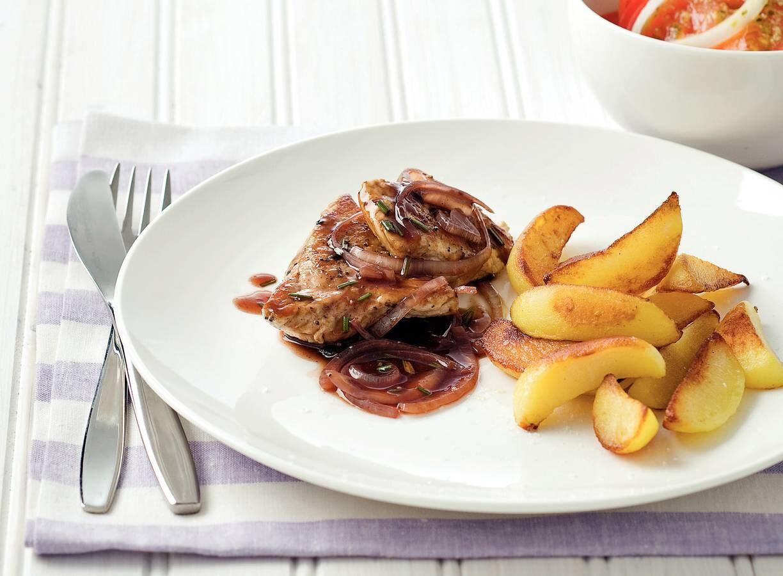 Schnitzel met rozemarijnjus