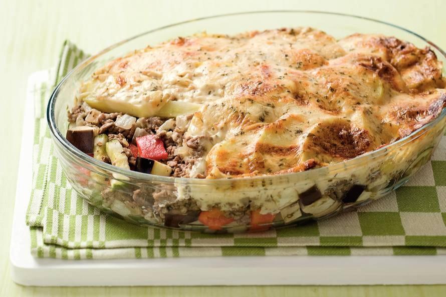 groenteschotel met gehakt oven