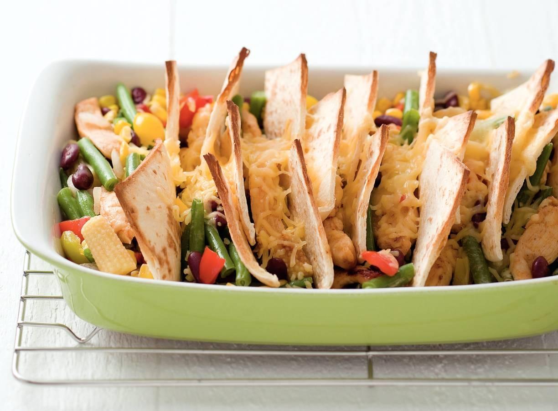 Mexicaanse groenteschotel met kip
