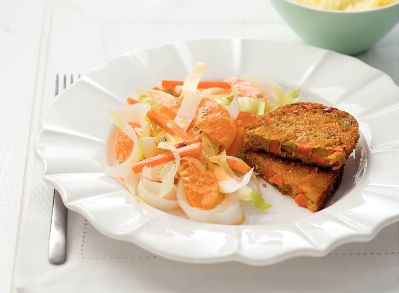 Witlofsalade met groenteschijf
