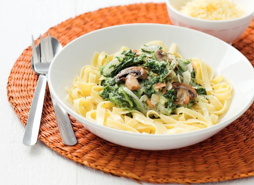 Tagliatelle met spinazie-roomsaus