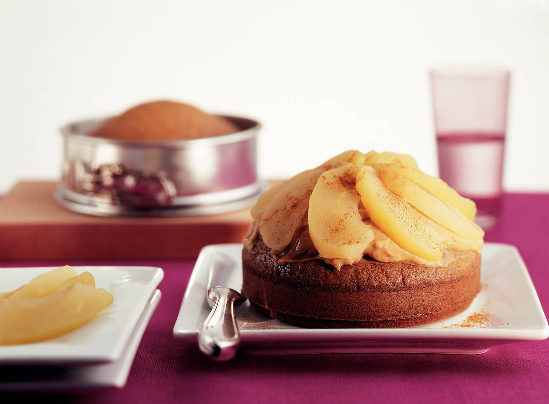Kruidkoektaart met mascarpone en appel