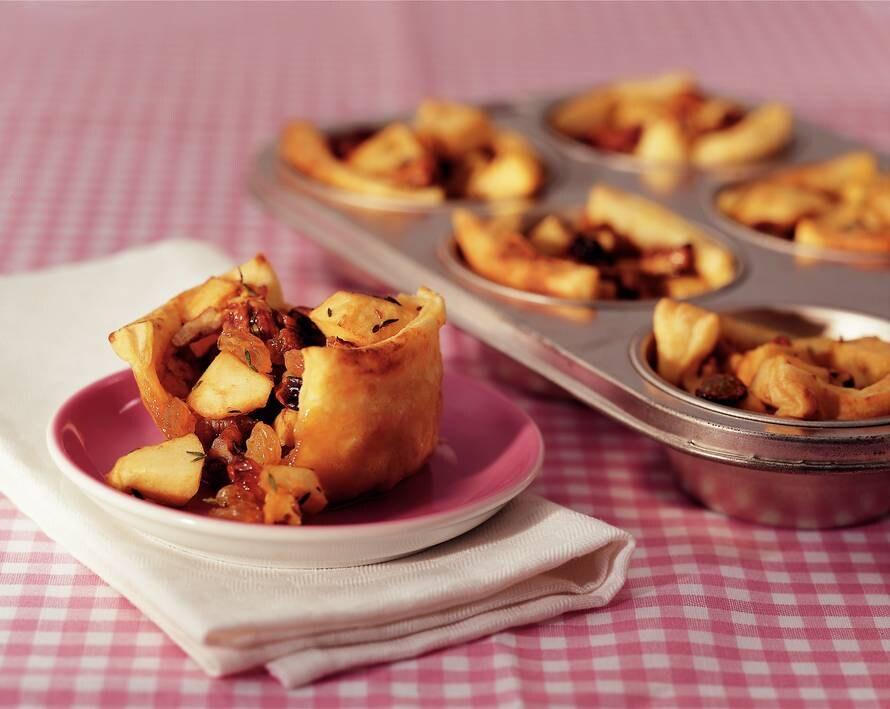 Kruidige mini-appeltaartjes