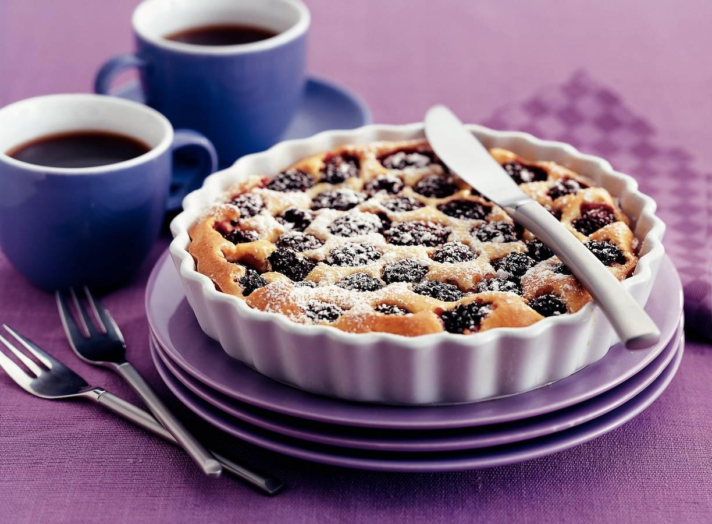 Ricotta-clafoutis met bramen en vanille