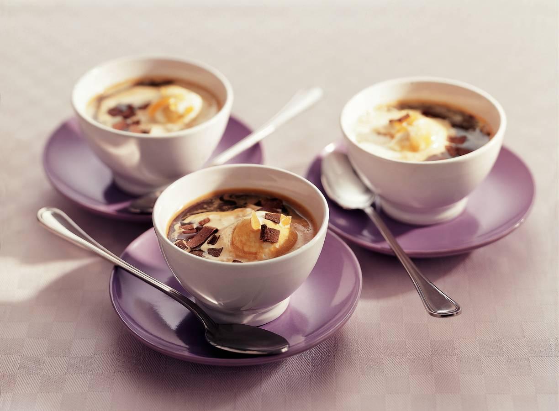 Roomijs met espresso en gember