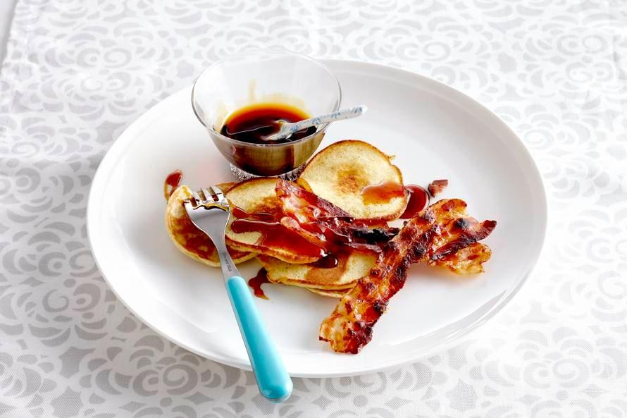 American pancakes met gezoet spek