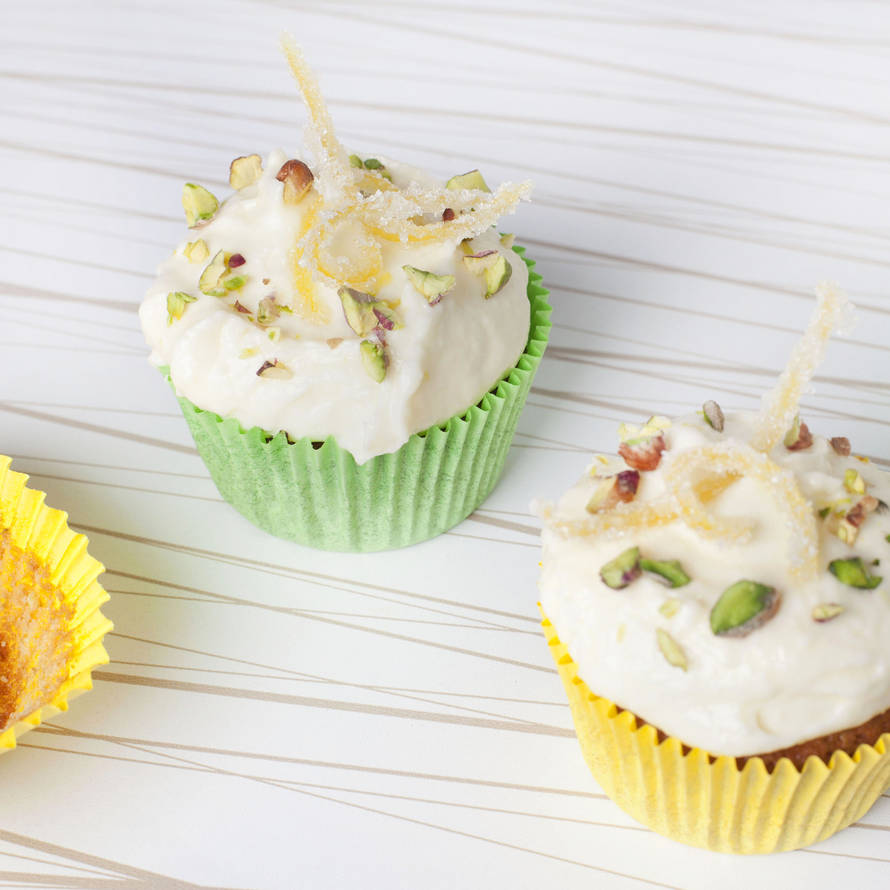 Citroen-pistachecupcakes