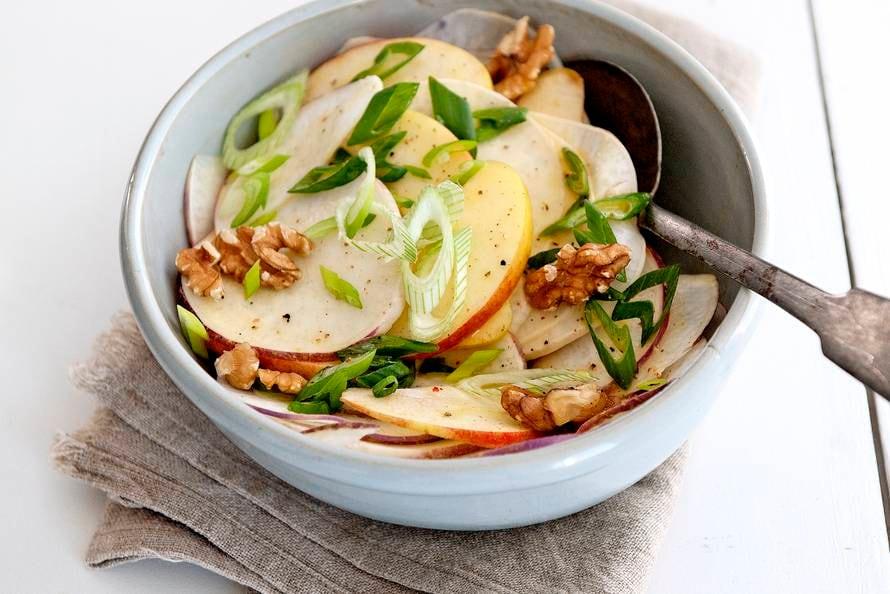Salade met meiraap en appel