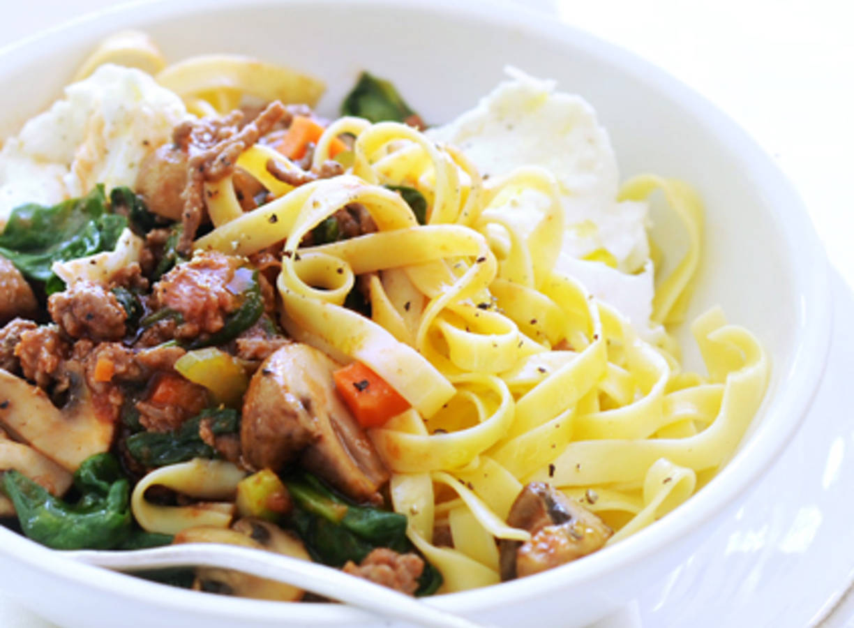 Tagliatelle met groentebolognese