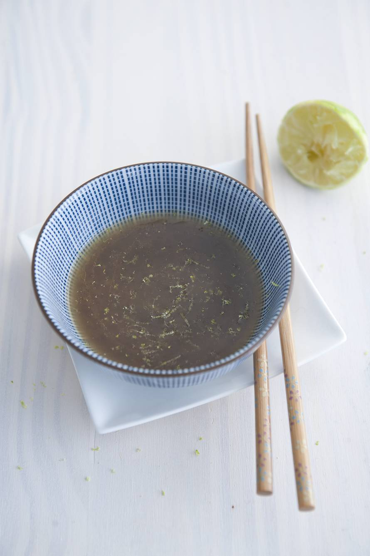 Limoen-sesam-gembervinaigrette