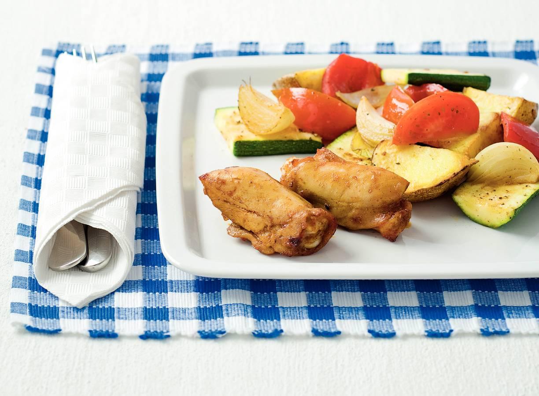 Kipspareribs met groente