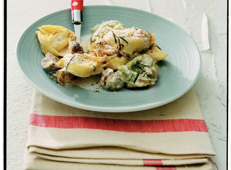 Tortellini met paddenstoelen