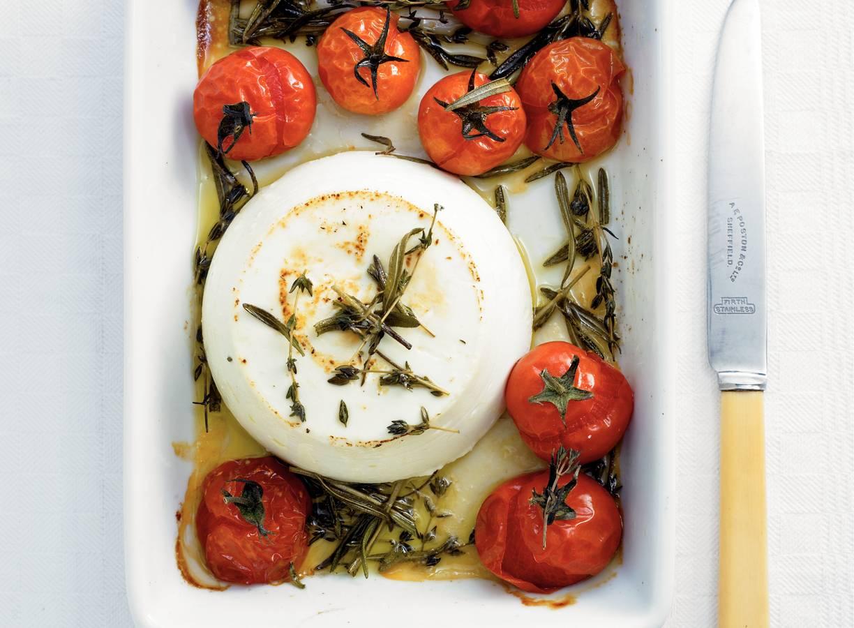 Ricotta met cherry tomaten