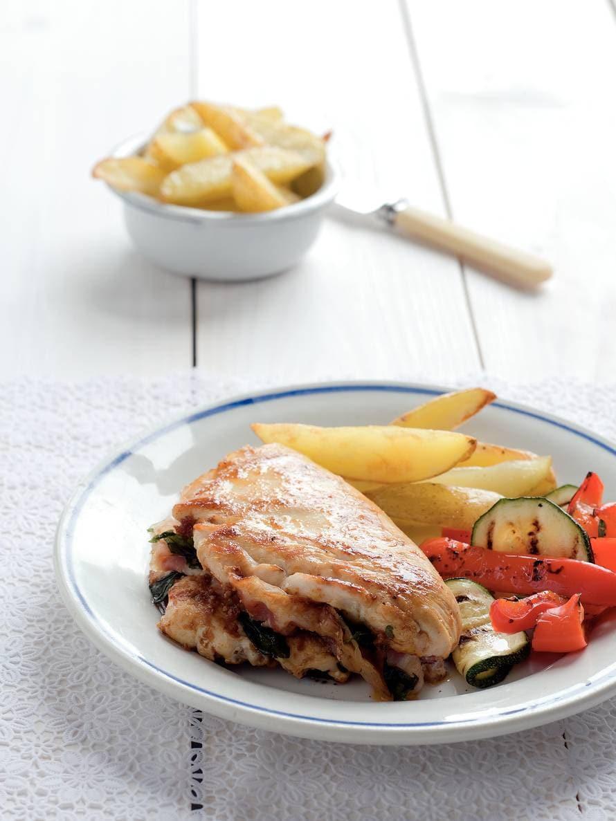 Kipfilet gevuld met pancetta