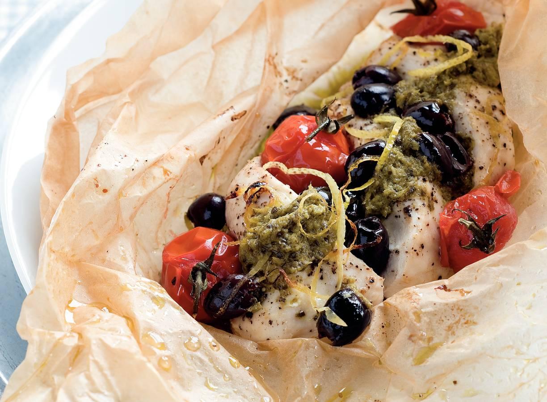 Italiaanse kip in bakpapier