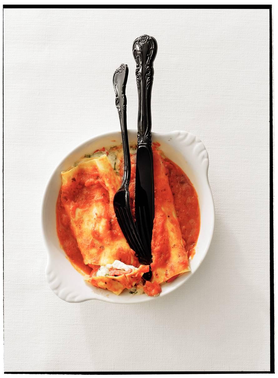 Cannelloni met paprika en magor