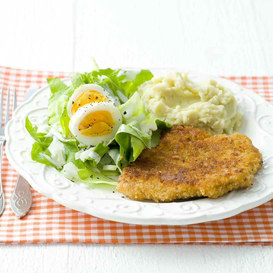 Schnitzels met salade