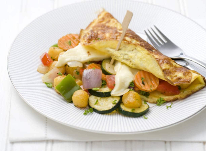 Omelet met Franse groenten & kaas