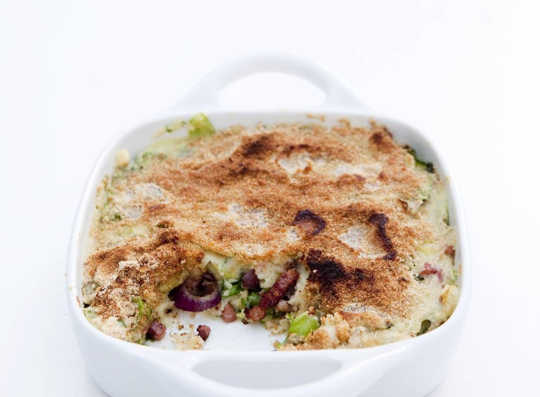 Aardappel-andijvieschotel van Ilona