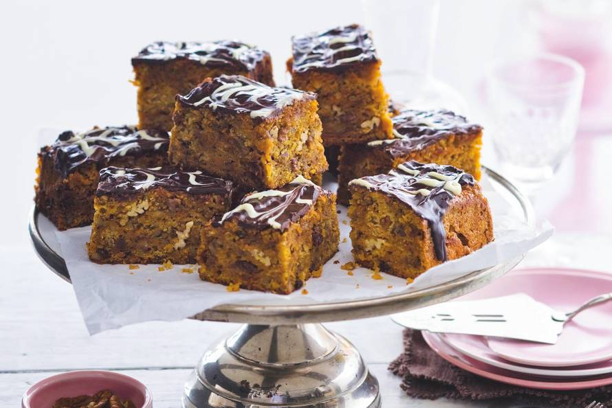 Image result for carrot cake met chocolade