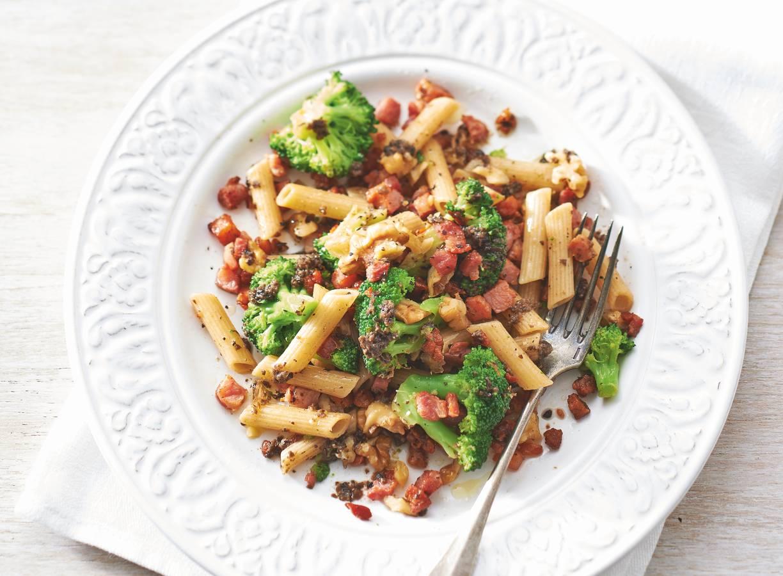 Smaakvolle truffelpenne met broccoli