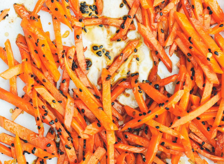 Gwyneth Paltrows wortel met zwart sesamzaad