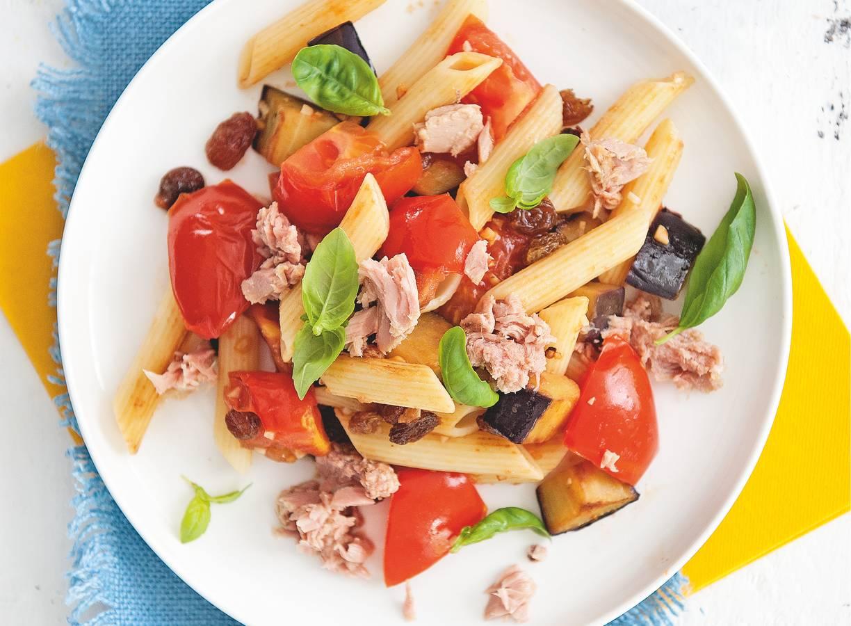 Siciliaanse pasta met tonijn
