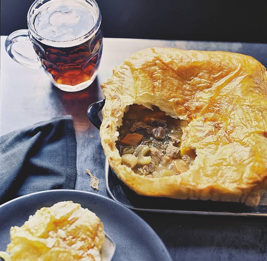 Beef en beer pie