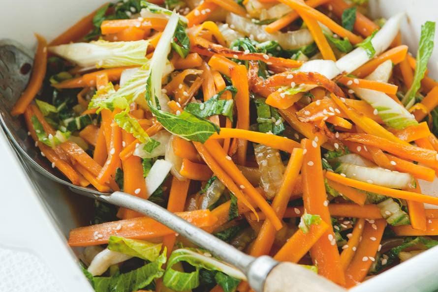 wortel met paksoi - recept - allerhande - albert heijn