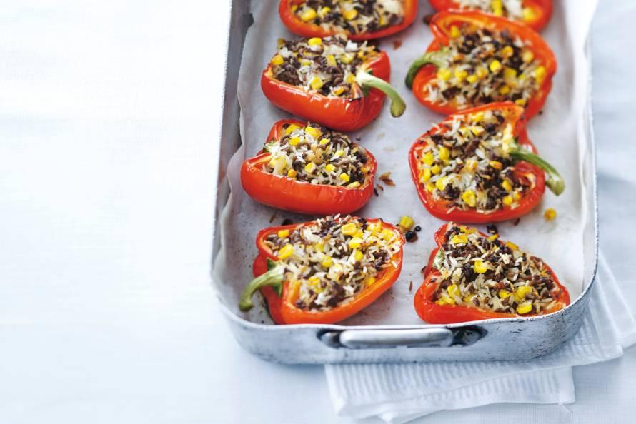 paprika gevuld met gehakt in de oven