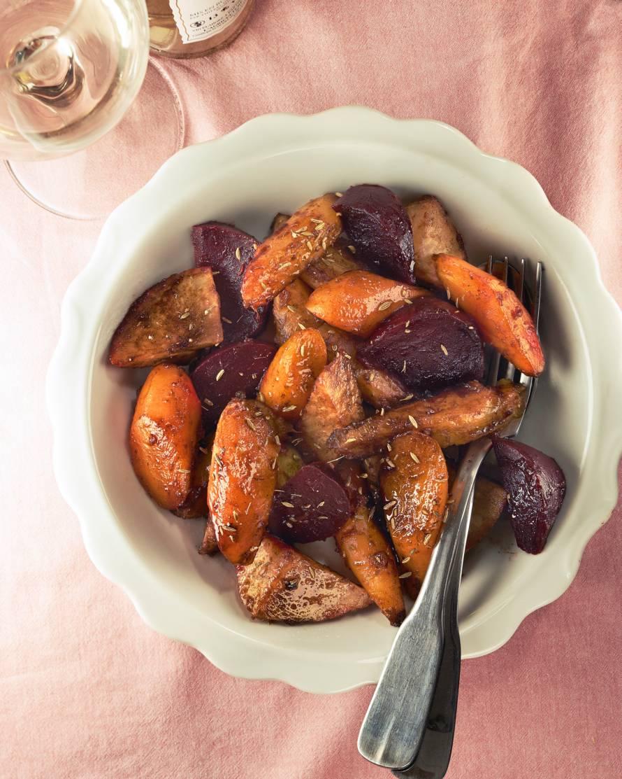 Yvette van Boven's geglaceerde wortelgroenten
