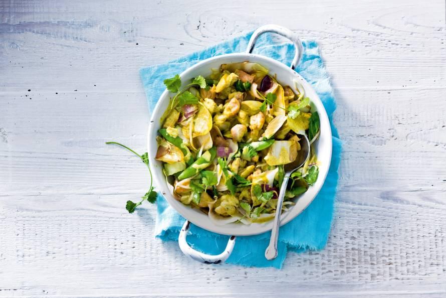Witlof met groene curry
