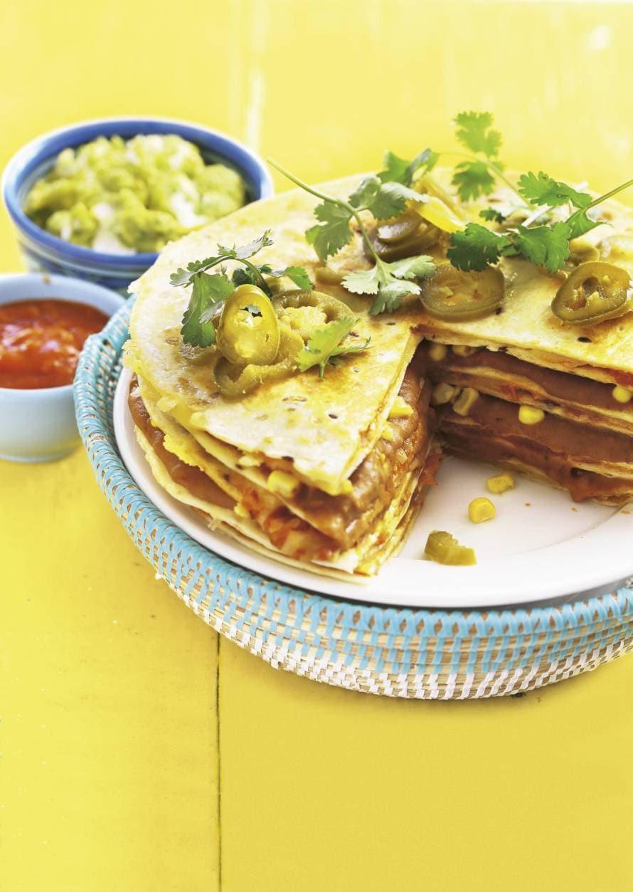 Tortillataart met guacamole