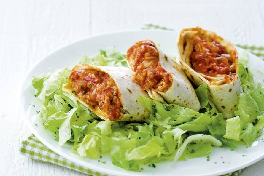 Kip-tomaatburrito's
