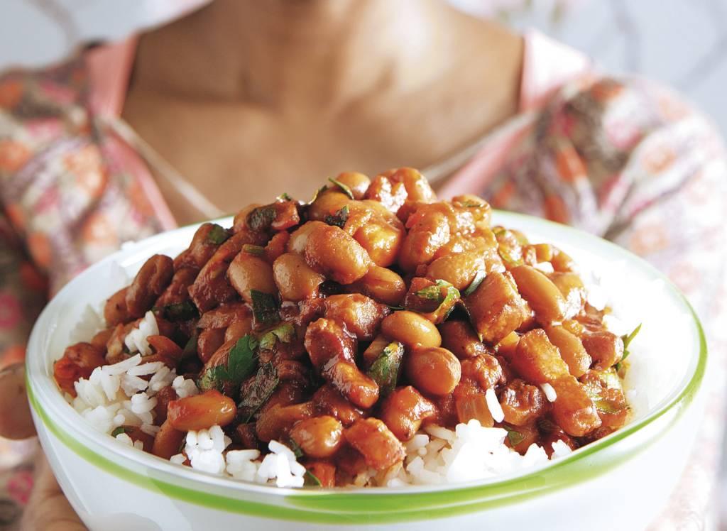 Surinaamse bruine bonen met rijst - Albert Heijn