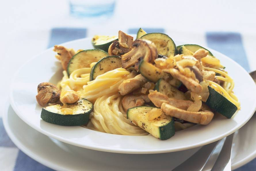recept courgette champignons tomaat