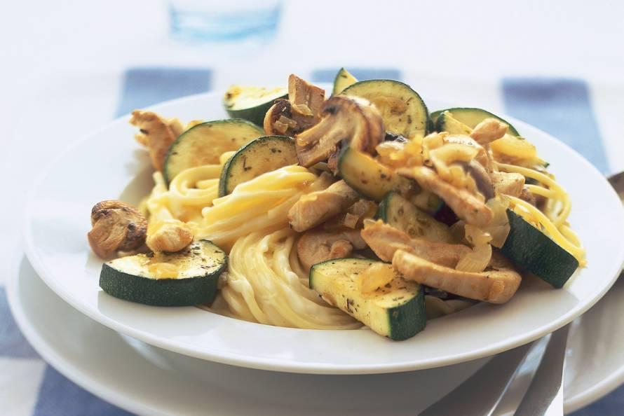 kipfilet met pasta
