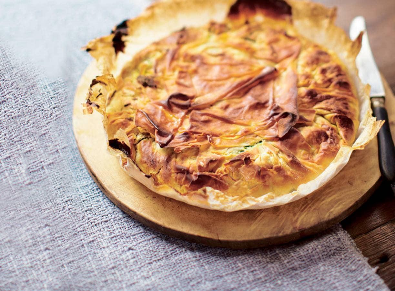 Spinazietaart witte kaas en pijnboompitten